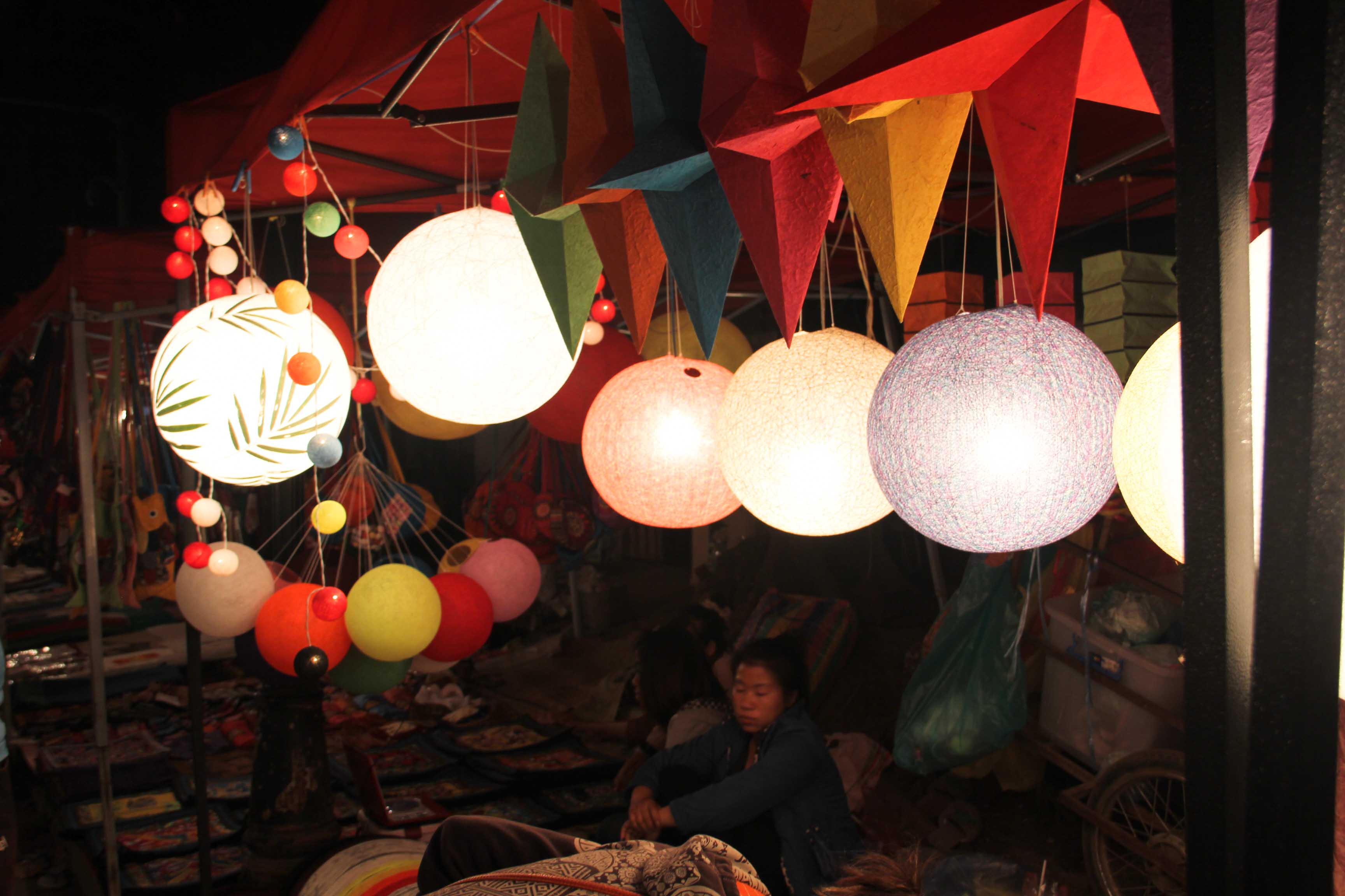 night market Laos
