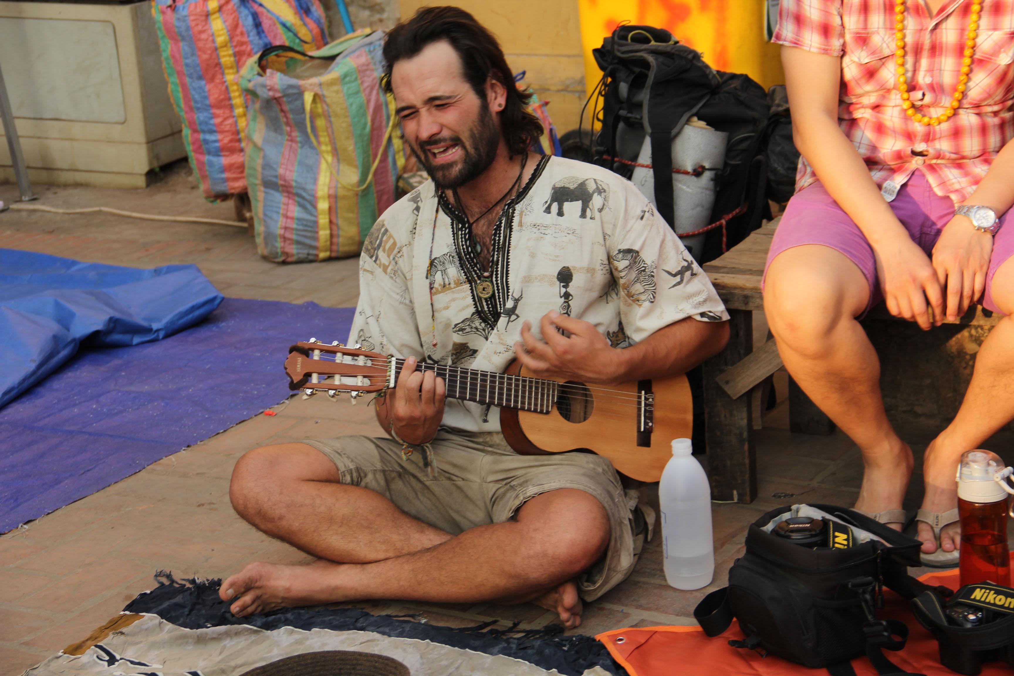 western guy on guitar